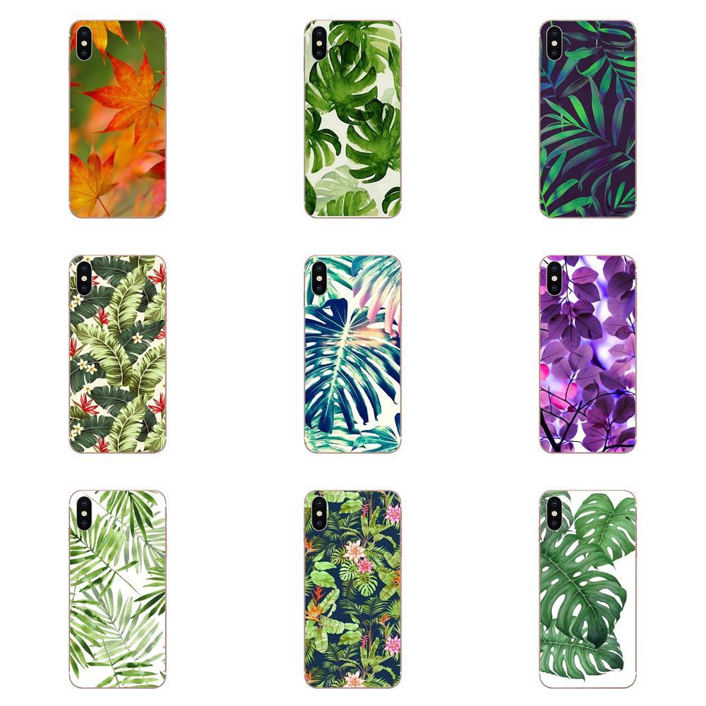 Para LG G2 G3 G4 G5 G6 G7 K4 K7 K8 K10 K12 ThinQ K40 Mini Mais Stylus 2016 2017 2018 Linda Tropical Wallpaper Folha de Plástico Borda