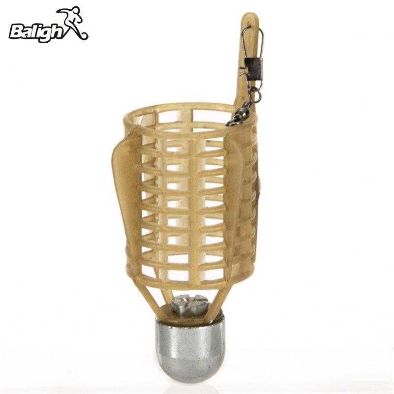 Jaula para cebo de pesca de 20/30/40/50g soporte para cebo de pesca lanzador conector de pesca plomo carpas accesorio de aparejos de pesca