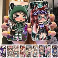 fhnblj social game gacha life phone case for iphone 8 7 6 6s plus x 5s se 2020 xr 11 12 pro xs max