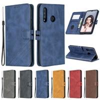 Чехол-бумажник со шнурком для Huawei P9 Lite-P40 Pro, кожаный