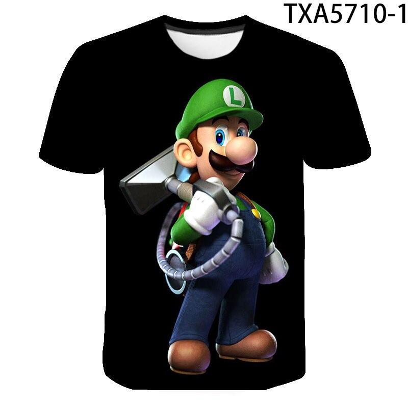 Luigis Mansion-Camisetas estampadas en 3d para hombre, camisetas impresas para hombre, camiseta...
