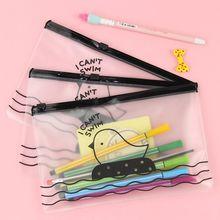 Nouveau je ne peux pas nager poulet clair sac à crayons étui femmes étui maquillage stockage de cosmétiques
