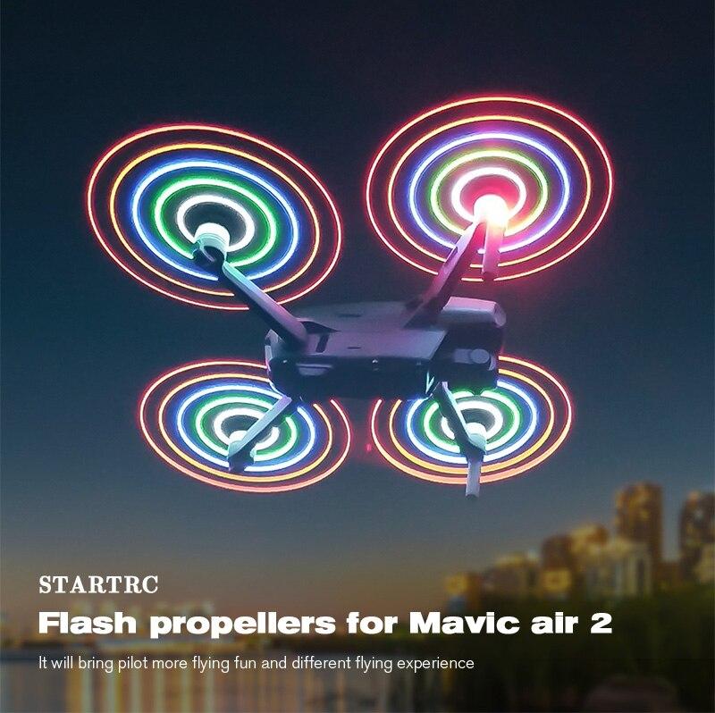 2/4 قطعة LED فلاش المروحة Mavic الهواء 2 الإفراج السريع شفرة الدعائم ل DJI Mavic الهواء 2 ملحقات طائرة بدون طيار