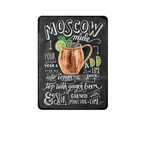 moscow mule cocktail metal sign plaque metal vintage pub tin sign wall decor for bar pub club man cave retro metal posters iron
