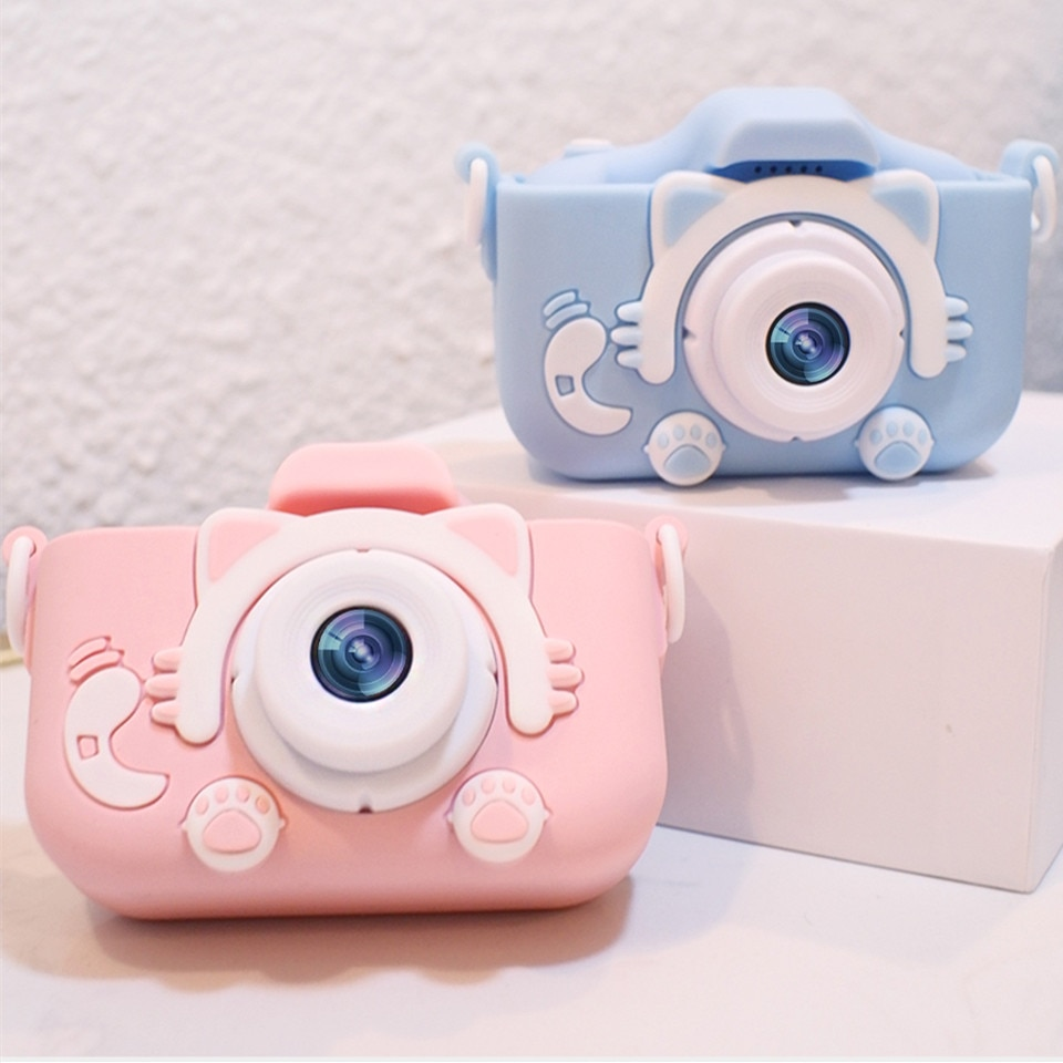 Children's Camera Mini HD Camcorder Digital Camera Toy Handheld Instant Camera Photo Video Game Cute Demon Boy Girl