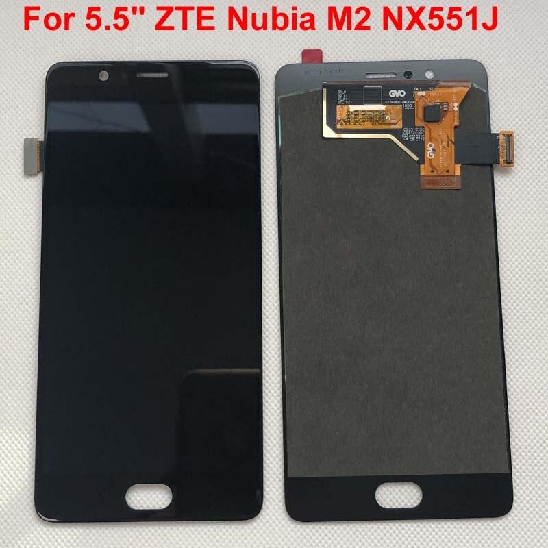 "Probado AAA calidad para 5,5 ""ZTE Nubia M2 NX551J pantalla LCD pantalla + Digitalizador de Panel táctil para ZTE Nubia M2 asamblea de pantalla Lcd"