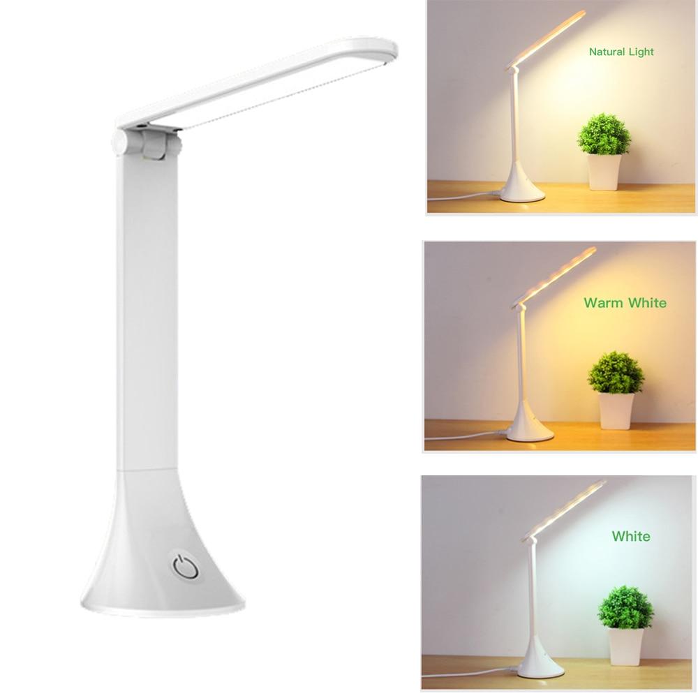 Lámpara de escritorio LED regulable, regulador táctil, luz diurna, luz Natural para el cuidado de los ojos, alimentada por USB, lámpara de trabajo de oficina para la lectura, estudio