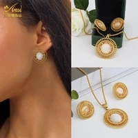aniid jewery necklace set woman fashion jewelery 24k gold plated earring wedding new trend 2020 luxury brands african costume