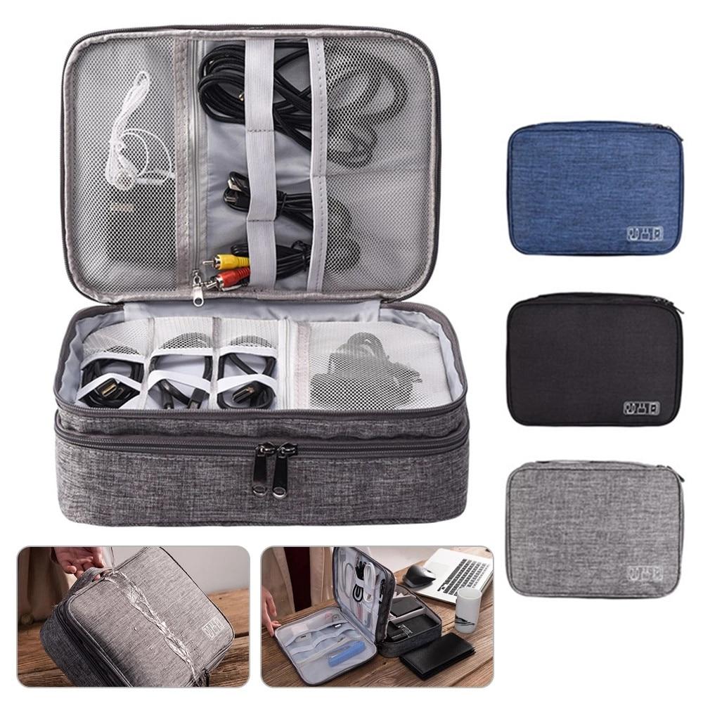 Organizador de accesorios electrónicos de cargador de Cable de bolsa de viaje...