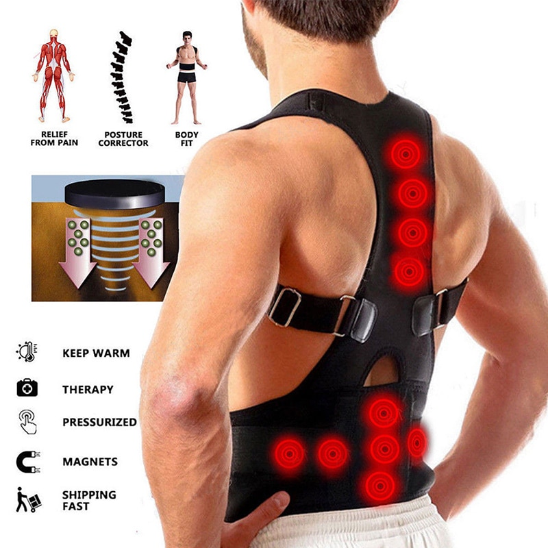 Magnetic Therapy Posture Corrector for Men Women Back Support Brace Spine Correct maintien dos Correctors houding correctie rug