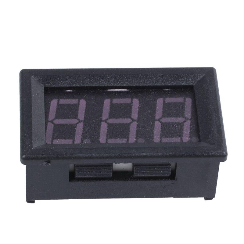 CC 0-99,9 V, 3 cables, pantalla LED Digital, medidor de voltios, voltímetro de voltaje, Motor de coche