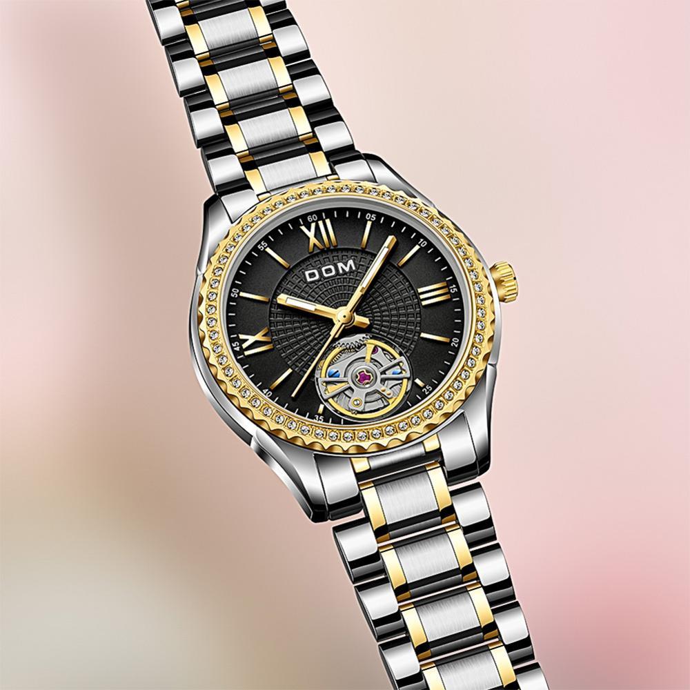 DOM automatic mechanical watch  female watch business couple watch men's watch  stainless steel luminous  sports waterproof enlarge