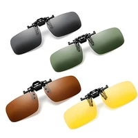 new polarized clip on sunglasses driving night vision lens sun glasses male anti uva uvb with case car accessories styling
