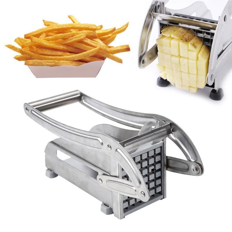 Máquina prensa de mano para patatas fritas largas, Cortador Manual de patatas fritas, exprimidor de patatas fritas, cortador de tiras de patatas fritas