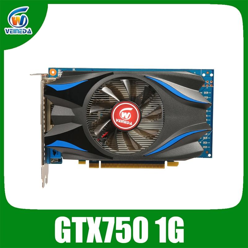 بطاقة فيديو أصلية GPU GTX750 1GB GDDR5 بطاقة بيانية instantkiller GTX650Ti ,HD6850 ,R7 350 لألعاب nVIDIA Geforce