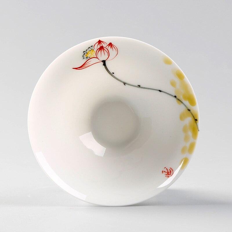 زهرة خمر فنجان الشاي الخزف الصيني الأبيض السيراميك الفاخرة فنجان الشاي حديقة المنزل اليدوية Tazas سيراميكا لوازم المطبخ DL60CB