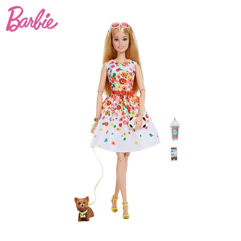 Muñecas negras originales de colección de Barbie para niños, juguetes articulados de...