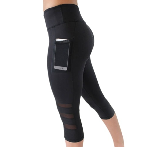 women mid-calf pants gym yoga seamless pants leggings pencil pants with side pocket athletic exercise fitness activewear pants