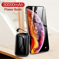 mini power bank 30000mah fast charging digital display usb power bank portable external battery charger for iphone for xiaomi
