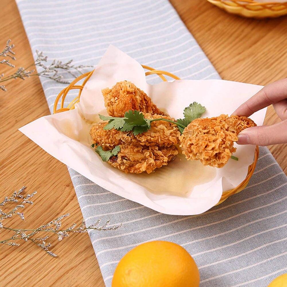 50 Sheet/Bag Tempura Kitchen Paper Oil-Absorbing Sheet For Drain Deep-Fried Food Greaseproof Paper Food Oil Absorbing Paper
