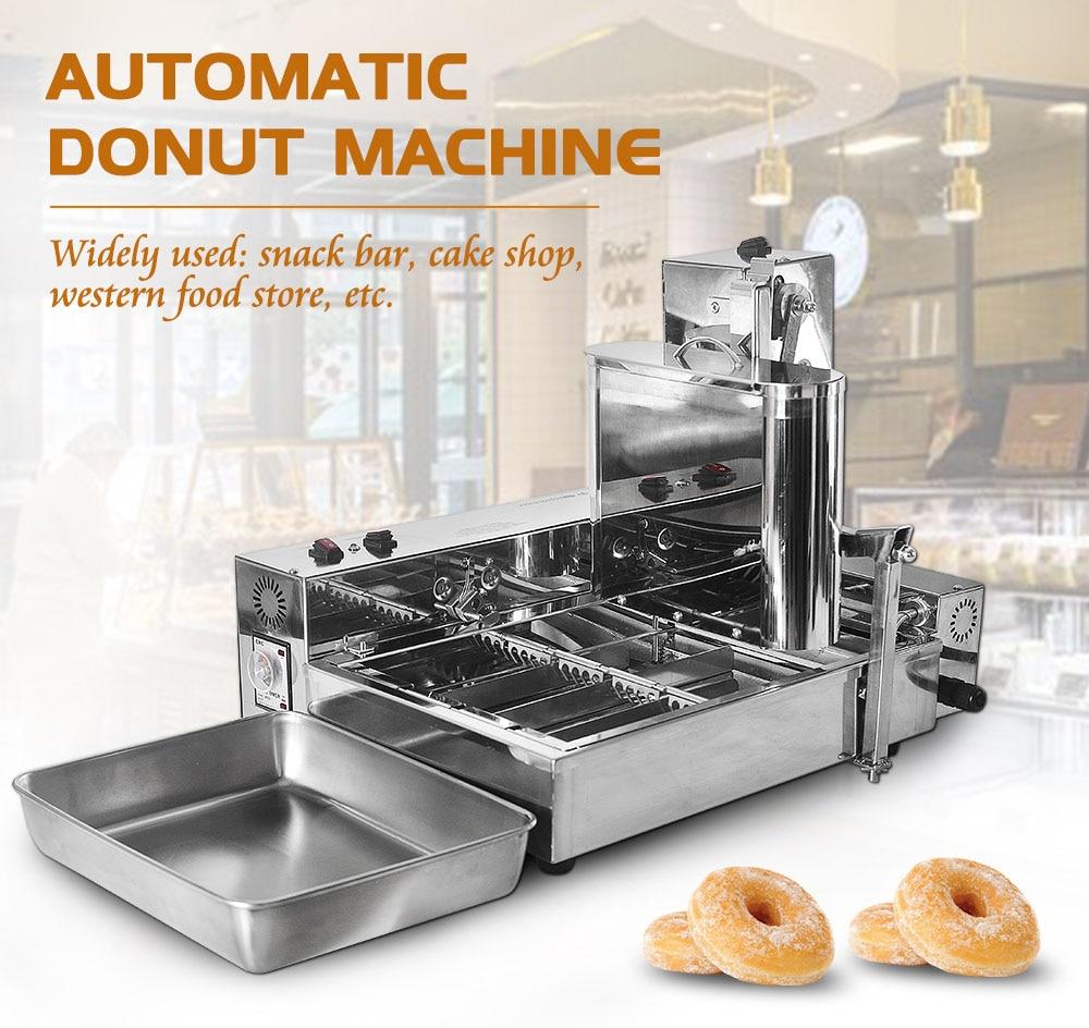 Comercial de 4 filas de máquina para hacer rosquillas... mini freidora para donuts máquina