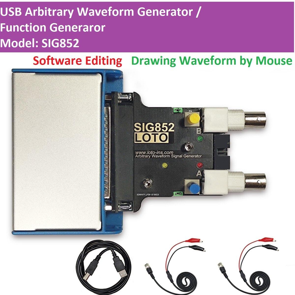 لوتو SIG852 USB AWG/مولد الموجي التعسفي/مولد إشارة/مولد وظيفة/2-قناة