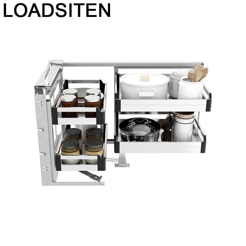 Organizador De acero inoxidable Para Cocina, cesta Para Armario De Cocina, Accesorios