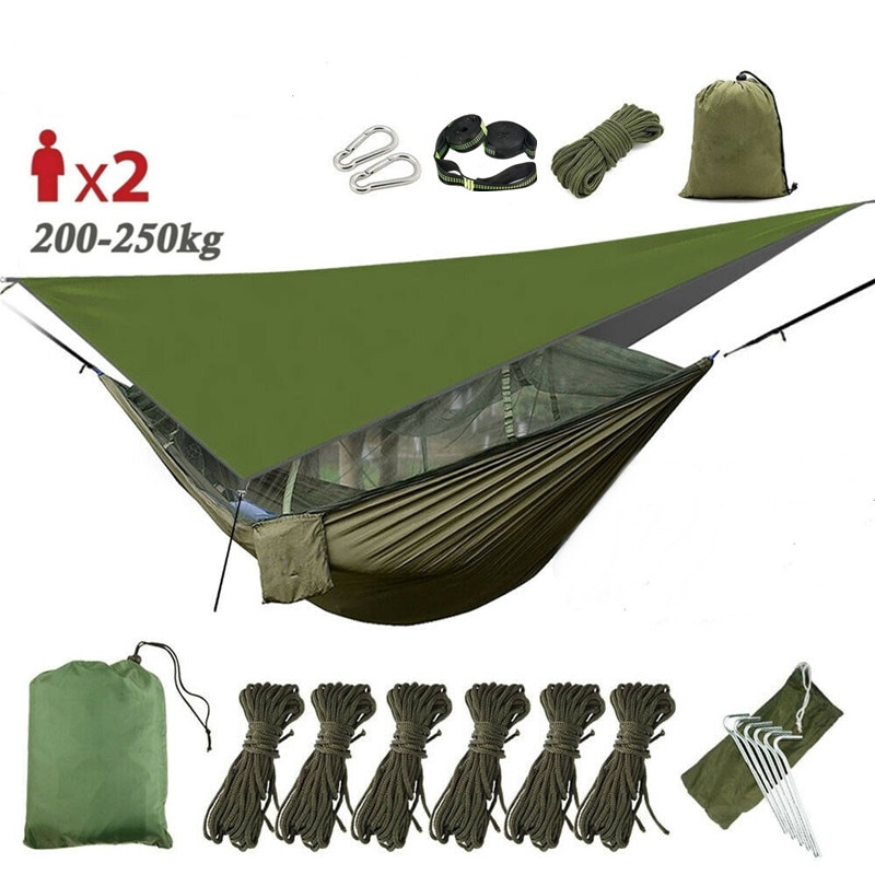 200x90x180cm camping mosquito net travel tent mosquito net camping tent net outdoor net for camping hiking backpacking Camping Hammock with Mosquito Net&Rainfly Tent Tarp & Tree Straps,Portable Nylon Hammock Tent for Camping Hiking Backyard Travel