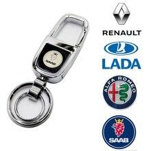 Porte-clés porte-clés de voiture en métal   Pour SAAB Renault Alfa Romeo KIA OPEL Benz Toyota Honda SCANIA Hyundai LADA, porte-clés de style de voiture