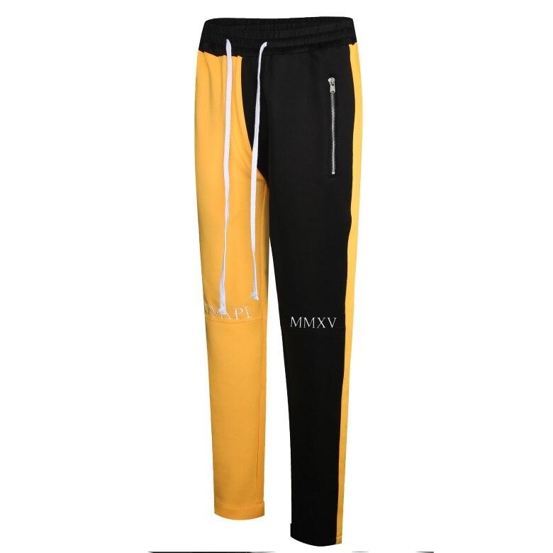 GUAPI GVAPI MMXV fusión pista Pantalones amarillo pantalones de chándal para hombre Camisetas Pantalones