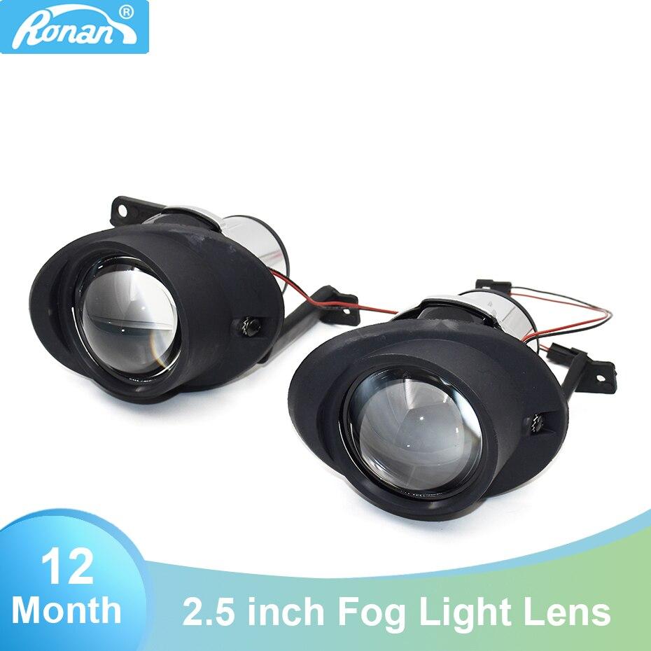 2 uds. Soporte de montaje de lente para proyector de xenón oculto de luz antiniebla de 2,5 pulgadas para CADDY TOURAN VENTO CITIGO, lámpara antiniebla H11, retroadaptable para coche