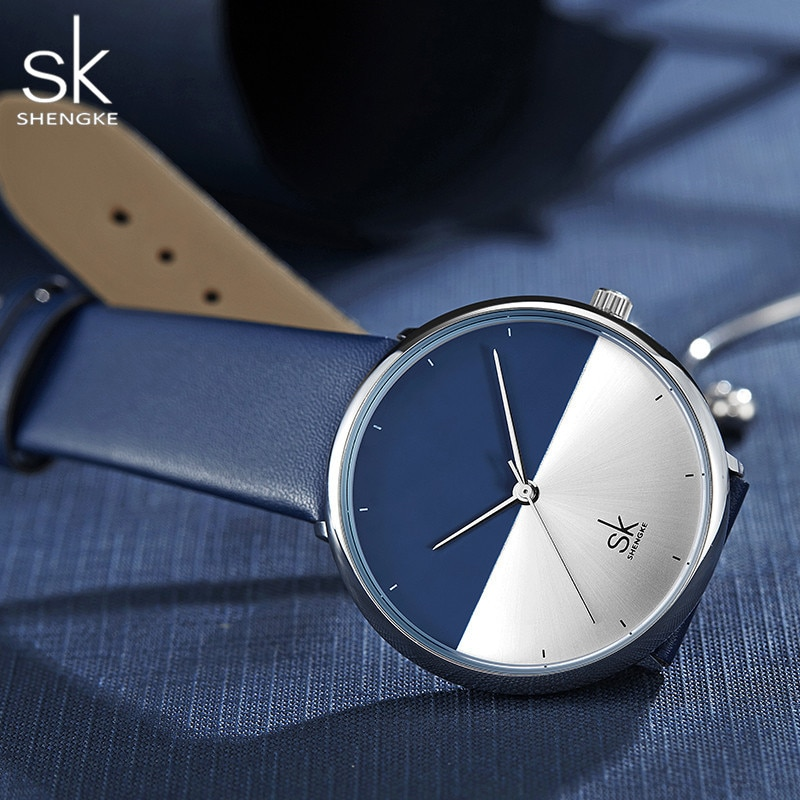 SK Creative Dial Watch Women Watches Casual Leather Ladies Women's Watch Women 2019 Luxury Blue Color Fashion Relogio Feminino enlarge