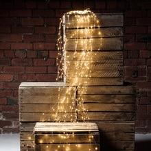 LED Filo di Rame stringa di luci di Vite Cascata di luce Di Natale Ramo Festa decorazione albero di luce per il Giardino Esterno