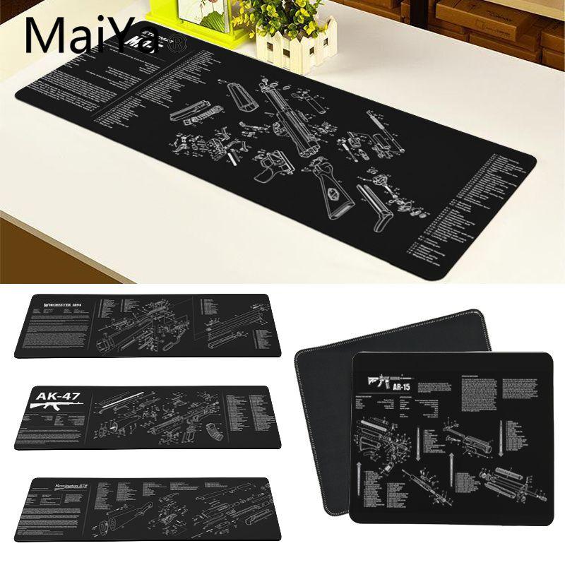 Maiya Top Quality CS GO guns parts AR-15 AK47 Customized laptop Gaming mouse pad Free Shipping Large Mouse Pad Keyboards Mat