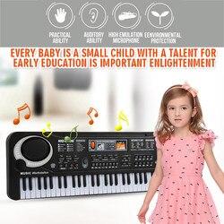 Música digital teclado eletrônico placa chave piano crianças presente plug ue # g3