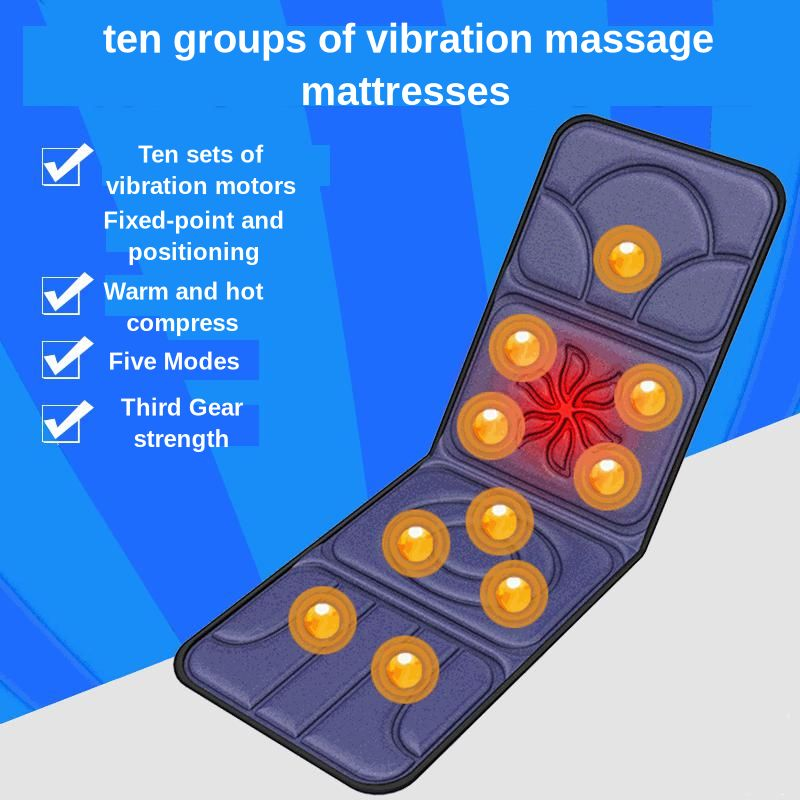 VIBRADOR ELÉCTRICO masajeador sistémico multifunción caliente comprimir Lumbar masaje de cuello plegable almacenamiento colchón de masaje de hogar