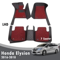 car floor mats carpets for honda elysion 2018 2017 2016 7 seater luxury double layer wire loop interior accessories custom
