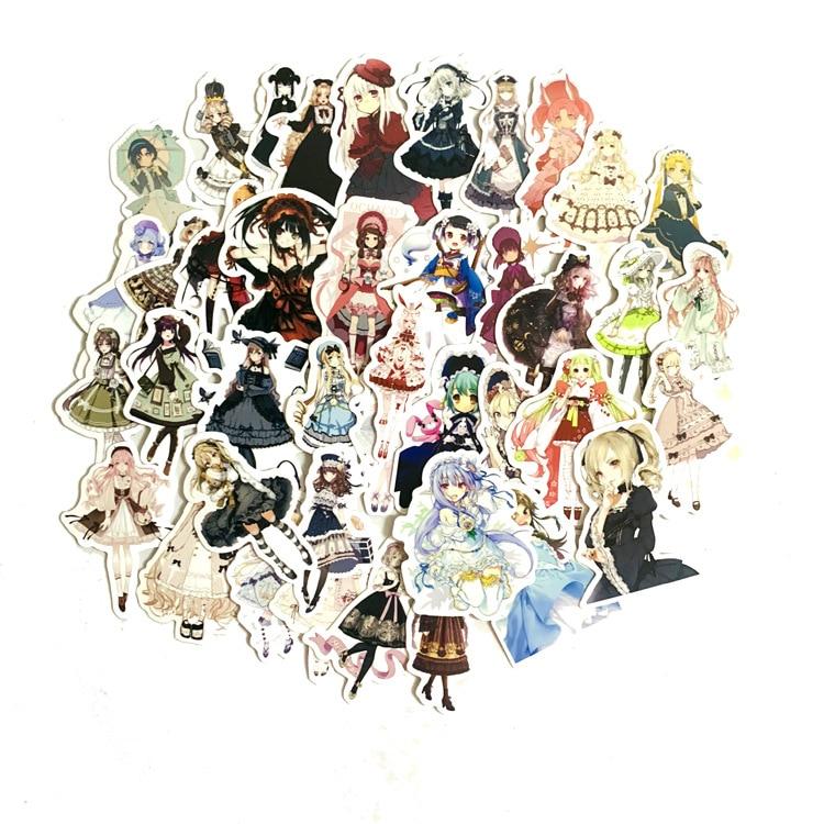42 unidades/pacote sen goth menina lolita menina adesivo handbill adesivo caseiro aquarela pintados à mão diariamente scrapbooking adesivos