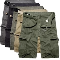 2021 mens military cargo shorts summer army green cotton shorts men loose multi pocket shorts homme casual bermuda trousers 40