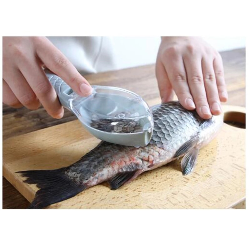 Cepillo de piel de pescado, raspador de escamas de pesca, cuchillo de...