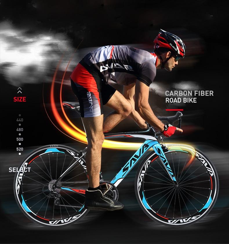 SAVA الطريق دراجة معركة الرياح 2-R3000-18S ألياف الكربون الطريق الدراجة 700c دراجة سباق سرعة ألياف الكربون الإطار/الجبهة شوكة الدراجة 18-speed