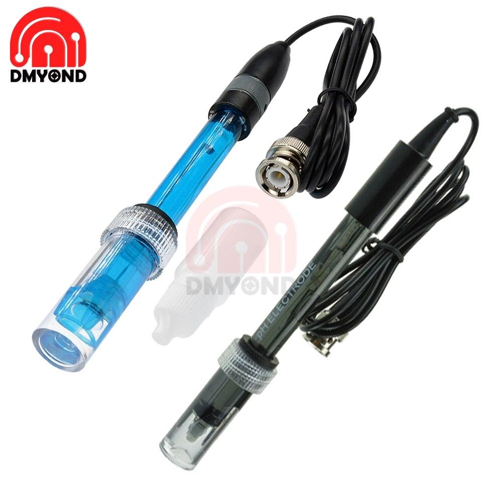 Sonda de electrodo de PH BNC Contor Ph probador sonda de detección Medidor sonda para acuario hidropónico controlador de PH Sensor Medidor