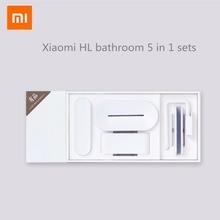 Xiaomi mijia HL badkamer 5 in 1 sets voor Zeep Tand Haak Opbergdoos en Telefoon Houder voor Badkamer Douche kamer Tool