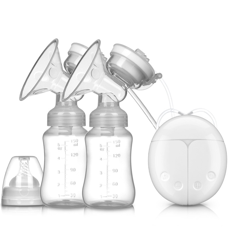 Double Electric Baby Milk Breast Pumps USB Powerful Suction Nipple Breast Pump Milk Bottle Cold Heat Pad Breastfeeding DropShip