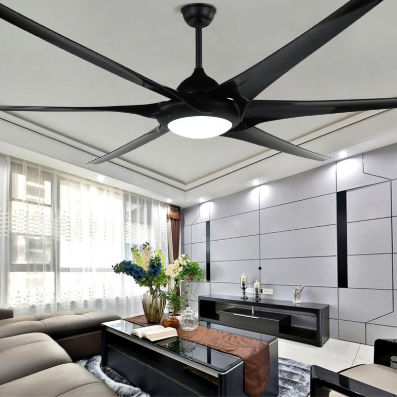 100 pulgadas de lujo viento industrial ventilador de techo dc110v/220v