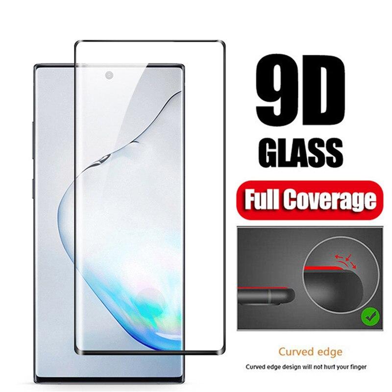 Cheio de Cola de Vidro Temperado Para Samsung S8 S9 Note9 S10 S10Plus S10E Nota 10 S7 borda tampa do Protetor de Tela de vidro