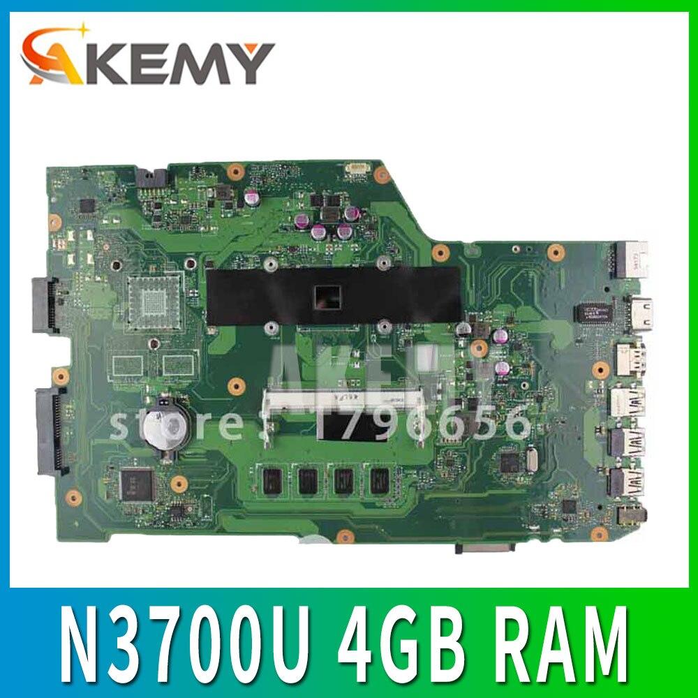 X751SA اللوحة الأم N3700U 4GB RAM ل ASUS X751S X751SJ اللوحة الأم X751SA اللوحة الأم X751SA اختبار 100% ok