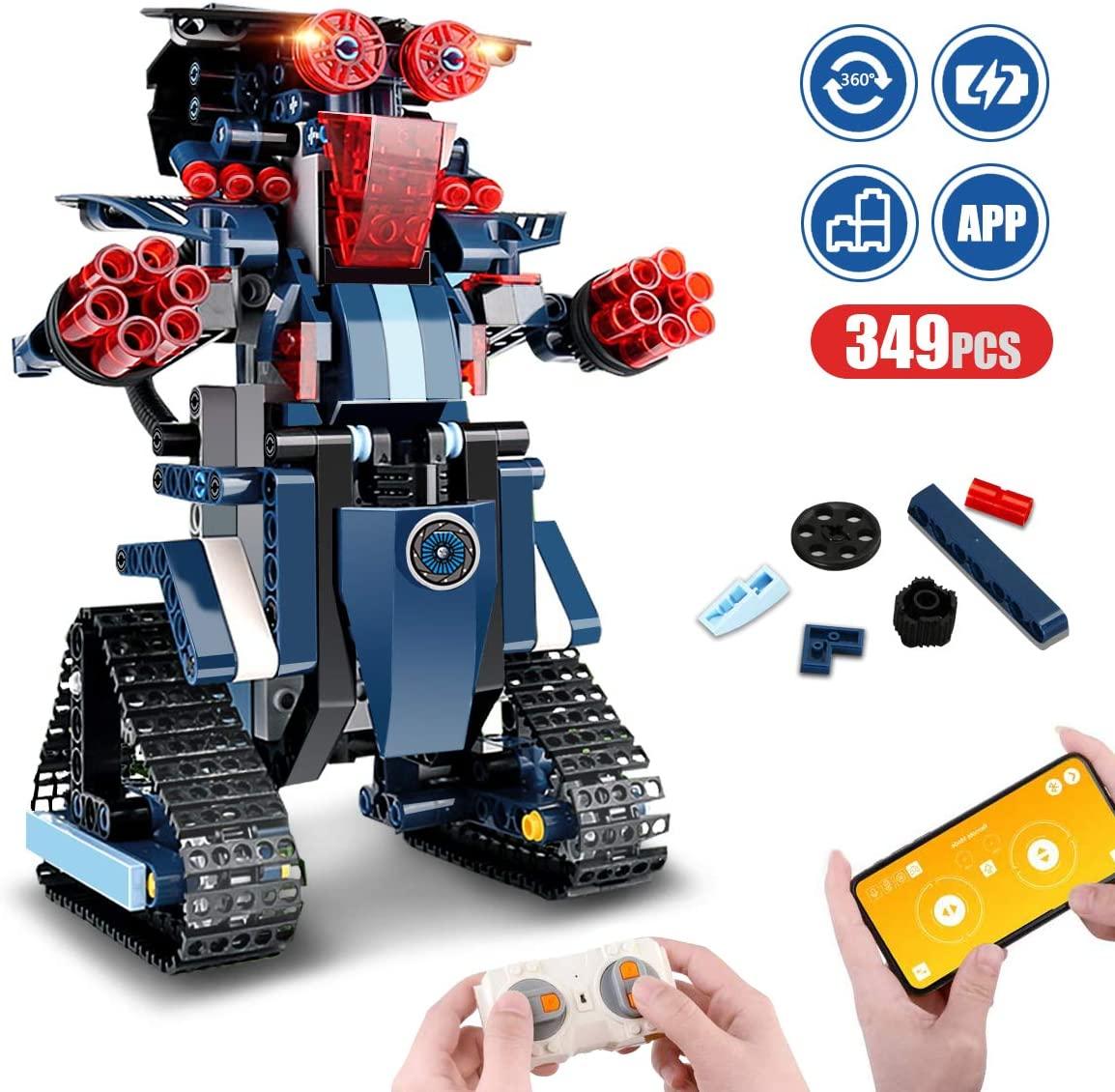 اللبنات روبوت للأطفال التحكم عن بعد الهندسة العلوم التعليمية بناء اللعب مجموعات للبنين والبنات 8-14 سنة