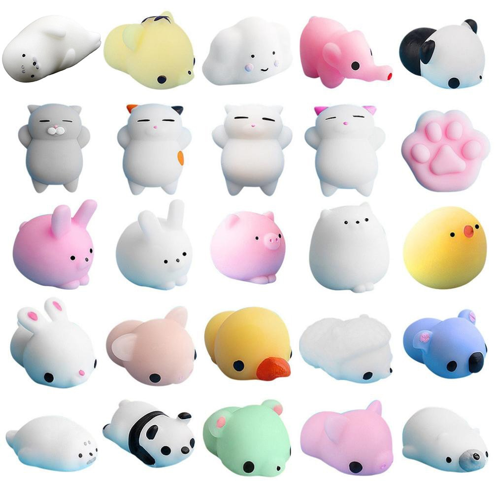25pcs decompression pinch music TPR doll cute hemp chi cat squeeze rehabilitation fun adult + kids kawaii toys to relieve F4* enlarge