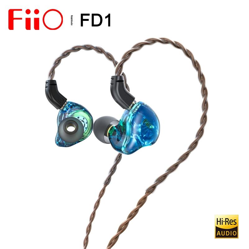 Fiio FD1 البريليوم مطلي الديناميكي سائق في الأذن سماعة IEM مع 2Pin 0.78 مللي متر موصلات انفصال كابل قوي باس